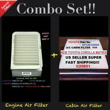 Engine&Cabin Air Filter AF5655 C25851 09-16 Corolla Matrix Vibe xD 06-16 Yaris