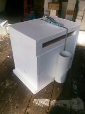 Empty double storey native bee hive for splitting or log transfer. 2 books inc