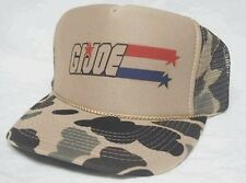 GI JOE Trucker hat Mesh Hat snapback hat tan/Camo adjustable