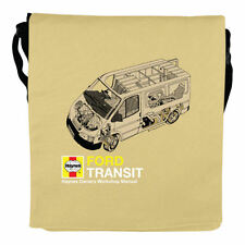 NEW HAYNES MANUAL FORD TRANSIT FOLDER MESSENGER BAG RETRO SHOULDER VAN