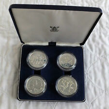 1980 INTERNATIONAL YEAR OF THE CHILD 4 COIN SILVER PROOF SET - boxed