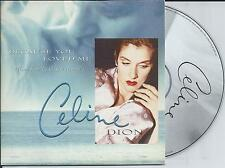CELINE DION - Because you loved me CD SINGLE 2TR EU CARDSLEEVE 1996