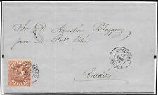 España. Carta con sello de 4 ctos con matasello de fecha. Edifil nº 58