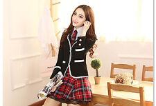 Japanese School Girl Cute Sailor Uniform Dress Skirt T-shirt Cosplay Costume D01