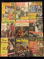 Confidential Detective True Crime Lot Of 9 50's & 60's Pulp Magazines Front Page