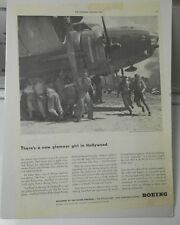 1940s WW 2 II BOEING Bomber FLYING FORTRESS Soldiers HOLLYWOOD Full Page 10x15