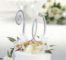 14 cm Cake topper iniziali monogramma strass torta matrimonio lettere compleanno
