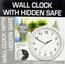 Wall Clock with Secret Hidden Safe Hide Valuables Jewelry Cash NEW