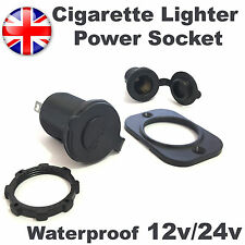 12V/24V Waterproof Power Motorcycle Boat Car Cigarette Lighter Socket Plug