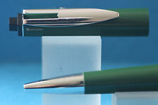 Vintage Waterman Reflex Ballpoint Pen, Olive Green with Chrome Plated Trim