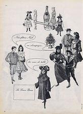 PUBLICITE ADVERTISING 074 1957 PERRIER des eaux de table pour Noêl