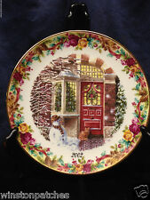 "ROYAL ALBERT ENGLAND HOME FOR CHRISTMAS YULETIDE GREETING PLATE 8 1/4"" 2002"