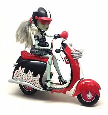 Monster High toy doll action Horror figure with Scooter bike gothic