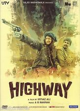 HIGHWAY - BOLLYWOOD ORIGINAL DVD - FREE POST