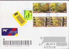 EUROPA 2011 FOREST ARMENIA AIRMAIL REGISTERED COVER TO LITHUANIA LITUVA R1002