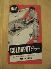 Vtg ca. 1950's Advertising Brochure~COLDSPOT FREEZERS~Sears~Paper Ephemera~