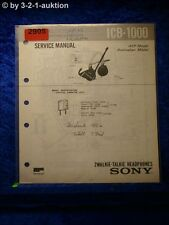 Sony Service Manual ICB 1000 Walkie Talkie Headphones (#2905)