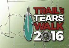 Postcard OK Oklahoma Trail of Tears Walk 2016 Promo Tvshka Homma Choctaw MINT