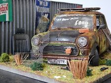 "1/18 MINI MR BEAN BARN FIND DIORAMA CODE 3 ""ANDREW GREEN"" COOPER S MK1 MODIFIED"