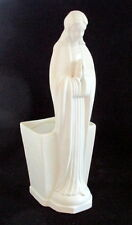 Madonna praying Virgin Mary planter vase statue figurine ceramic 11 inches tall