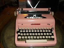Antique Authentic 1950s  Bubble Gum Pink   Royal Manual Portable Typewriter