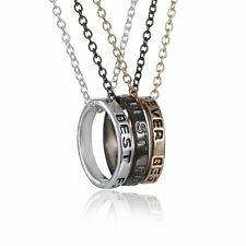 NEW 3 pcs  Best Friends Forever Pendant Friendship Ring Charm Necklace BFF Gift