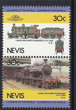 NEVIS LOCO 100 LARGE BELPAIRE PASSENGER LOCOMOTIVE UK STAMPS MNH