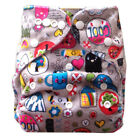 Alva Reusable Washable Baby Cloth Diaper One Size Minky Nappy +1 Insert M30