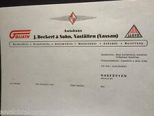 900.093 DIN A4 Briefpapier Autohaus Deckert, Goliath, Borgward, Lloyd, Nastätten