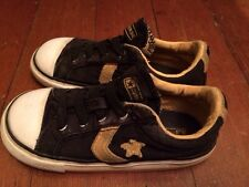 Converse Sneakers,  Black, Yellow size 9 Children tennis, canvas athletic Shoes