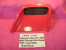 1993-1997 PONTIAC TRANS AM FIREBIRD OEM DRIVER HOOD SCOOP VENT RED # 10236034