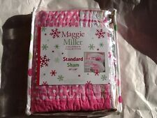 Maggie miller standard sham shabby girlie pink chic NWT polka dot quilted