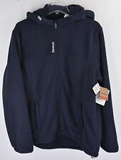 Reebok Full Zip Hoodie Mens M Navy Blue Thick Fleece Lined NEW 5364