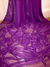 "5 MTR QUALITY PURPLE/GOLD SHIMMER CHIFFON FABRIC...58"" WIDE £12.49"