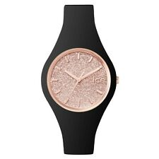 Ice-Watch 001346 Ladies Ice-Glitter Black Silicone Strap Small Watch RRP £79.95