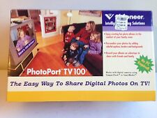VISIONEER PHOTOPORT TV 100 DIGITAL PHOTO VIEWER WIRELESS KEYBOARD REMOTE NO PC