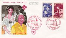 Enveloppe 1er Jour TOURNIS 11/12/1971 émission croix rouge 71 timbrée