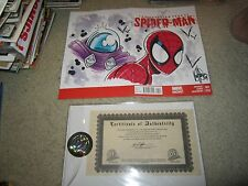 SUPERIOR FOES REMARKED SPIDERMAN/MYSTERIO COVER SIGNED BY KEN HAESER COA !!