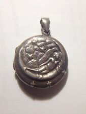 Moon Sterling Silver Lady On Moon And Stars  Locket