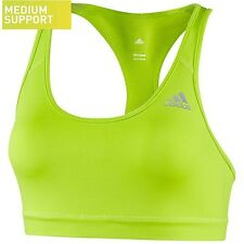 NEW Women's Adidas Techfit Sports Bra Color: Neon Yellow Size: Large