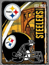 Pittsburgh Steelers blanket bedding 60x80  FREE SHIPPING NFL NFC fleece sherpa
