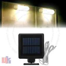 2X 10 LED Rechargeable Solar Powered Light for Shed Indoor and Outdoor UKED