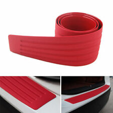 New Car Rear Bumper Guard Sill/Protector Plate Rubber Cover Guard Pad 90x8cm Red