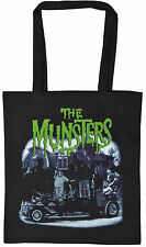 THE MUNSTERS BLACK COTTON TOTE SHOPPER BAG B-MOVIE HORROR WEREWOLF HALLOWEEN