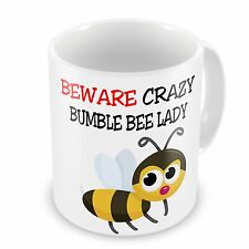 Beware Crazy BUMBLE BEE Lady Funny Novelty Gift Mug