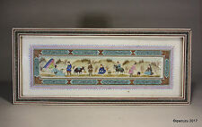 Vintage Fine Islamic Persian Painting on Bone Micro Mosaic Frame