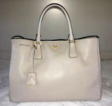 PRADA Grey Saffiano Medium Leather Tote Handbag BN1844