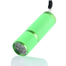 UV Ultra Violet 9 LED Flashlight Waterproof Torch Light Lamp Bright Laser GN
