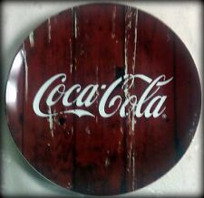 "New Coca Cola Collector or Salad Plate, Redwood,  7.25"" Diameter"