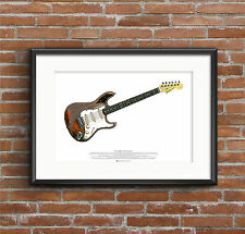 Rory Gallagher's Fender Stratocaster Guitar ART POSTER A2 size